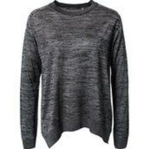 Tiger of Sweden black gray marbled thin sweater L